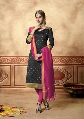 Black fancy banarasi silk salwar