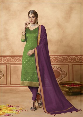 Green fancy banarasi silk salwar