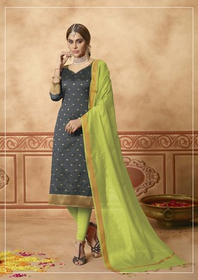 Grey fancy banarasi silk salwar