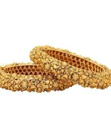 Traditional Gold Plated Bangles Set Of 2