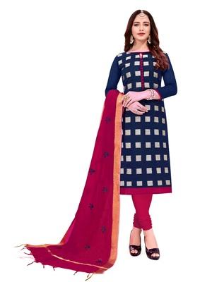 Blue woven jacquard salwar