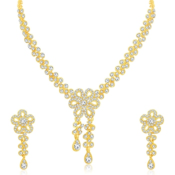 Gold diamond necklace-sets