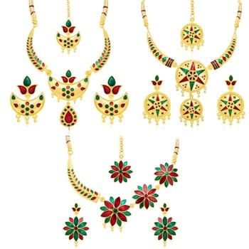 Multicolor pearl necklace-sets