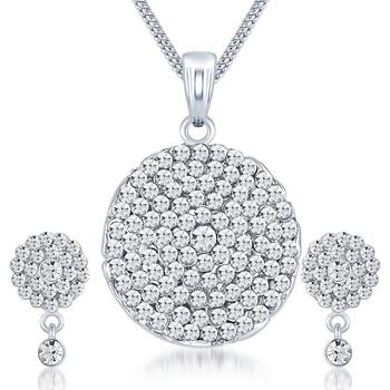 White diamond pendants