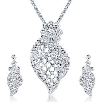 White diamond pendants