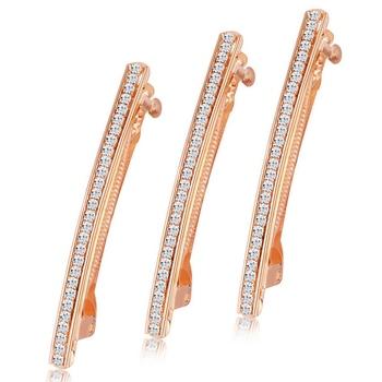 Gold diamond hair-accessories