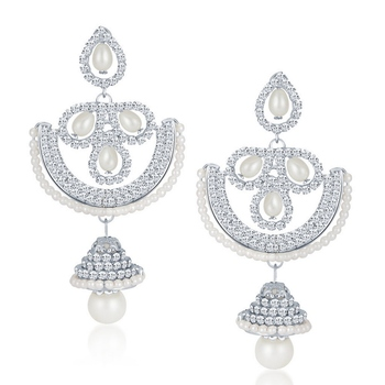 White diamond earrings
