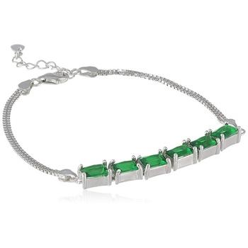 Green cubic zirconia bracelets