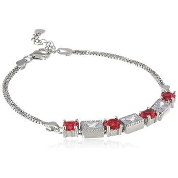 Red cubic zirconia bracelets