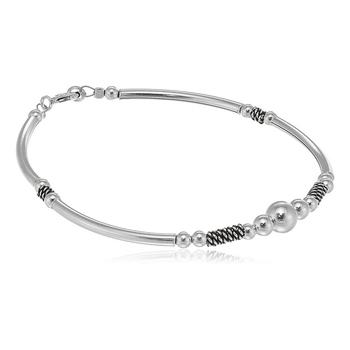 Silver pearl bracelets