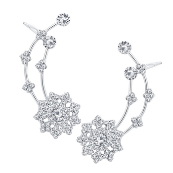 White diamond ear-cuffs