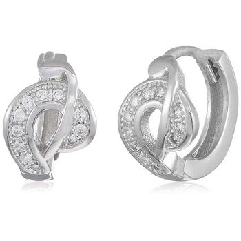 Silver cubic zirconia earrings
