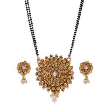 Gold pearl mangalsutra