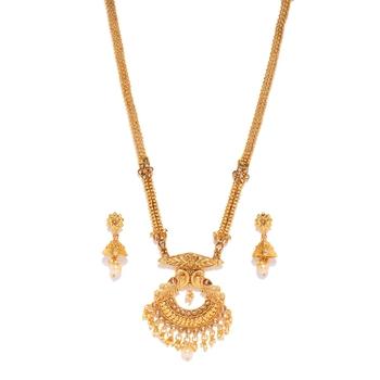 Gold diamond necklace-sets