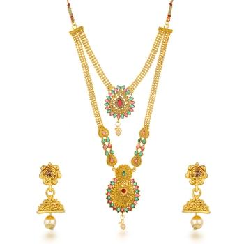 Green diamond necklace-sets