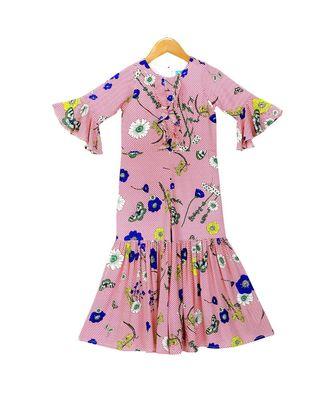 Printed Sharara Jumpsuit - Pink