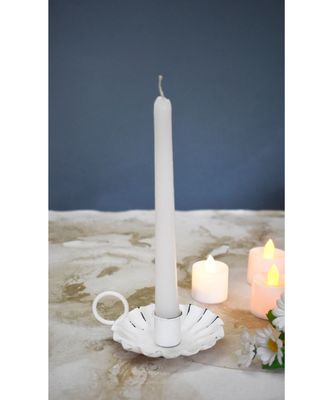 Distress Round Candle Holder