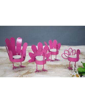 Pink Bird T Light Holders