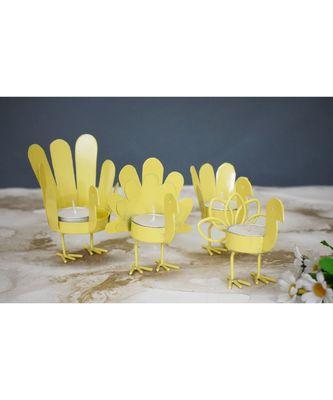 Yellow Bird T Light Holders