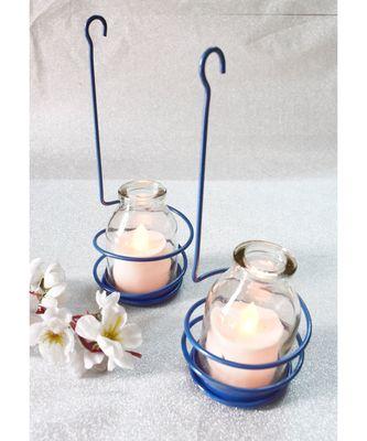 Blue Spiral Tea light Holder cum Candle Stand