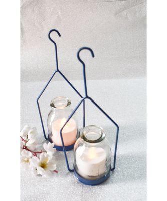 Hanginh Hut Tea light Holder- Blue