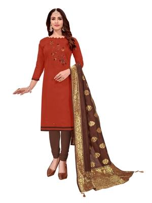 Orange mirror cotton salwar