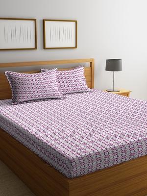 multicolor geometric Double bedsheet