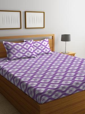 blue geometric Double bedsheet