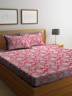 multicolor abstract print Double bedsheet