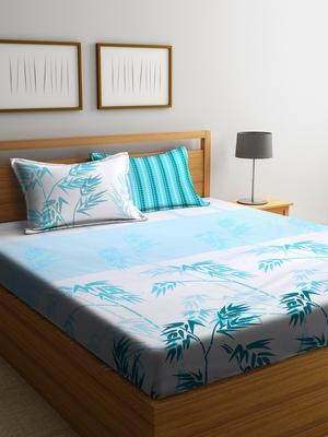 multicolor floral print Queen bedsheet