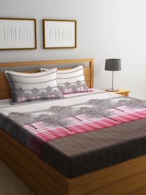 multicolor nature print Queen bedsheet