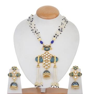 Blue kundan necklace-sets