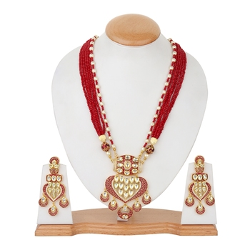Maroon onyx necklace-sets