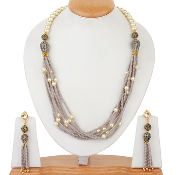 Grey onyx necklace-sets