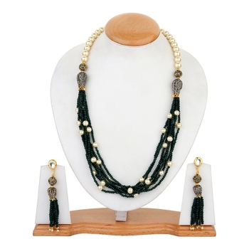 Green onex necklace-sets