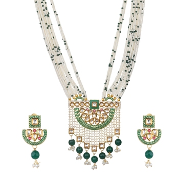 Wedding Green onyx necklace-sets