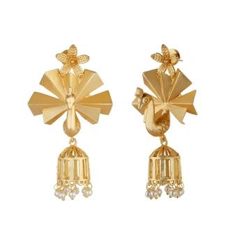 Amrapali Gold agate earrings