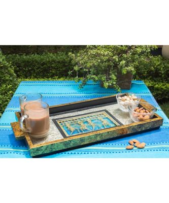 Serving Tray with goldLeafing