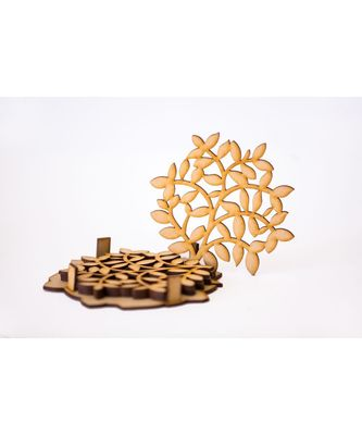 Tree Shaped Set Of 4 Coasters
