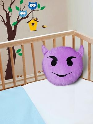 "Smiley Emoji Soft Polyester Pillow - 15.7""x15.7"", Yellow-011"