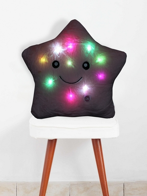 Pink ROSENICE LED Lighting Pillow Glowing Star Pillow Throw Pillow Bedroom Decorative