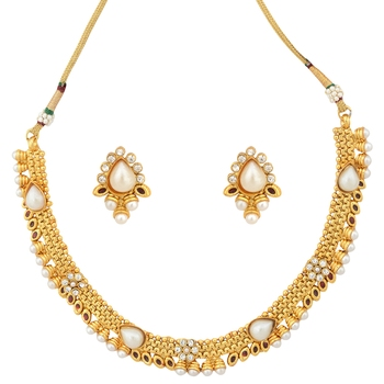 Golden necklace-sets