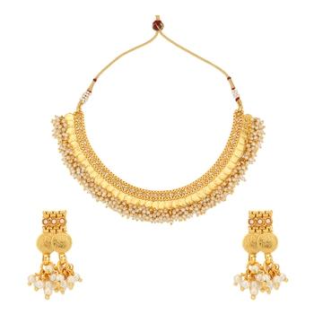 Golden necklace-sets