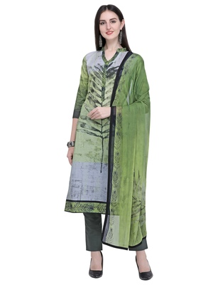 Green printed cotton salwar