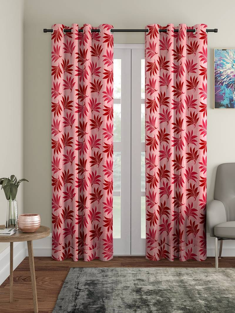 Pink Polyester Plain Printed Door Curtains For Bedroom Kitchen Kids Or Living Room Cortina 3073444