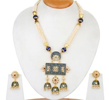 Blue onyx necklace-sets