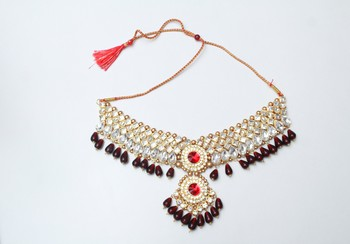 Red diamond necklaces