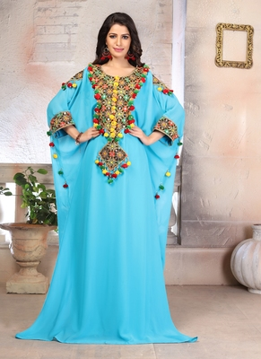 Woman Georgette Embroidery Kaftan