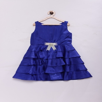 Blue Stylish & fashionable girls shantoon layered party dress