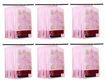 Atorakushon® Fabric Printed Hanging Saree Cover Wardrobe Organiser Pack of 36